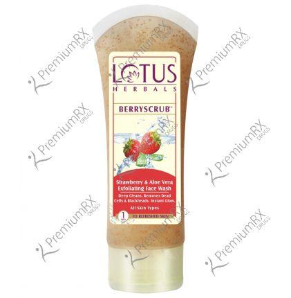 Berry Scrub (Straberry & Aloevera Exfoliating face Wash) 80 gm