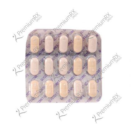 Glycomet GP  (500+2)mg